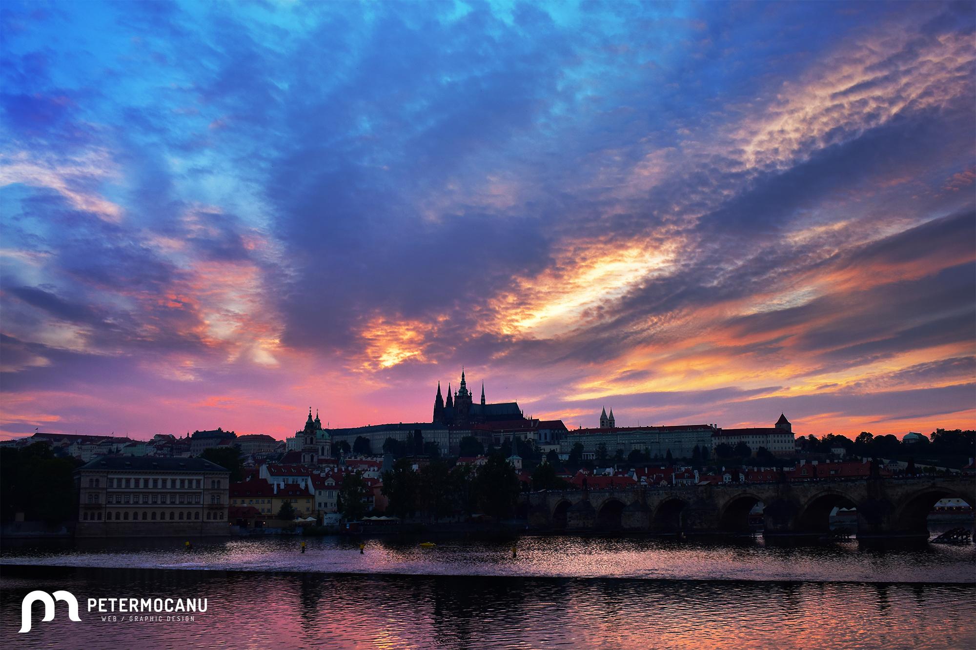 Castello di Praga al tramonto