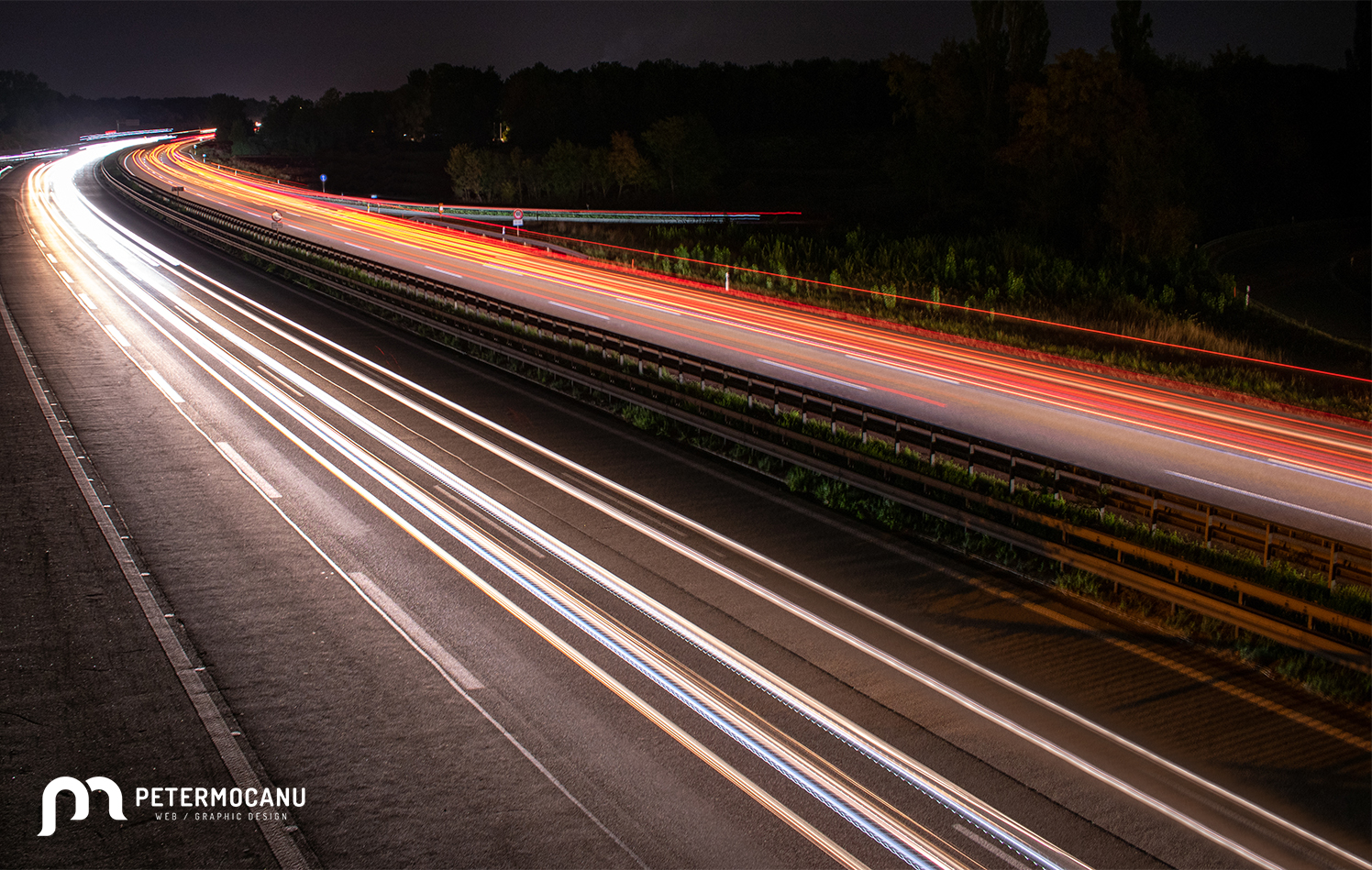 Long exposure shot over the highway