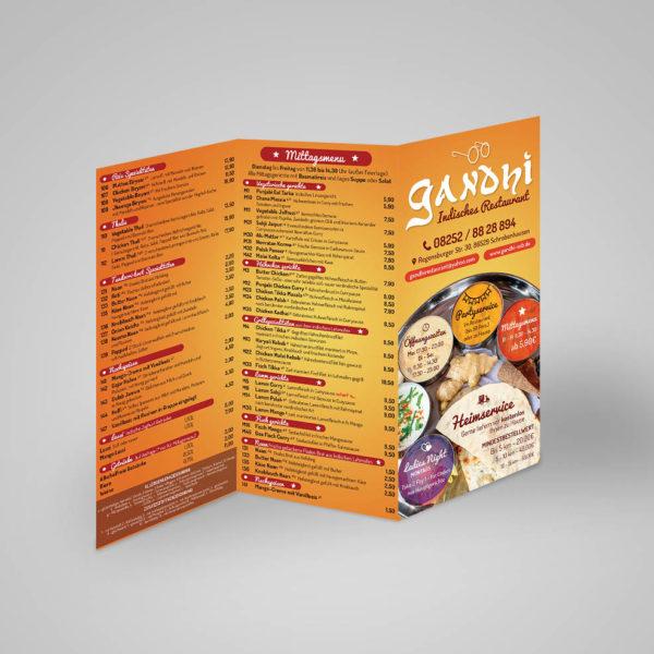 Trifold Indian Restaurant Brochure