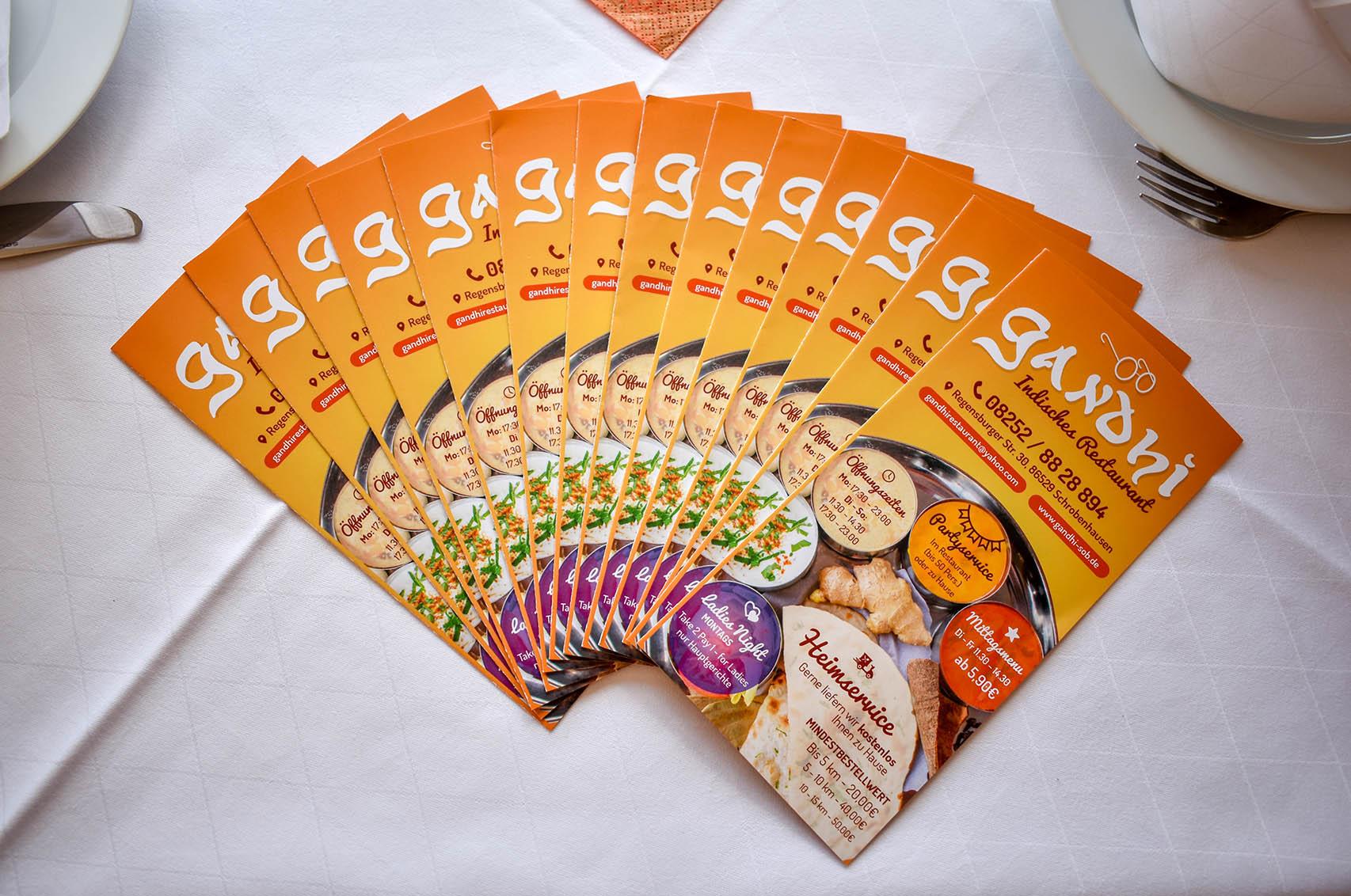 Trifold Brochure Restaurant