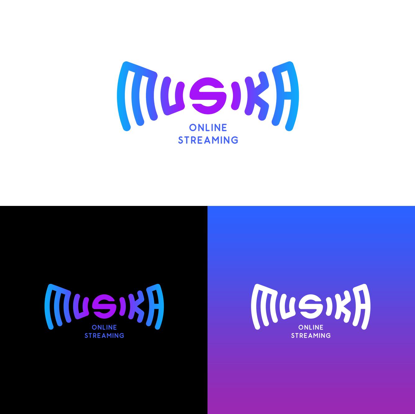 Musika | Fictional music platform logo design