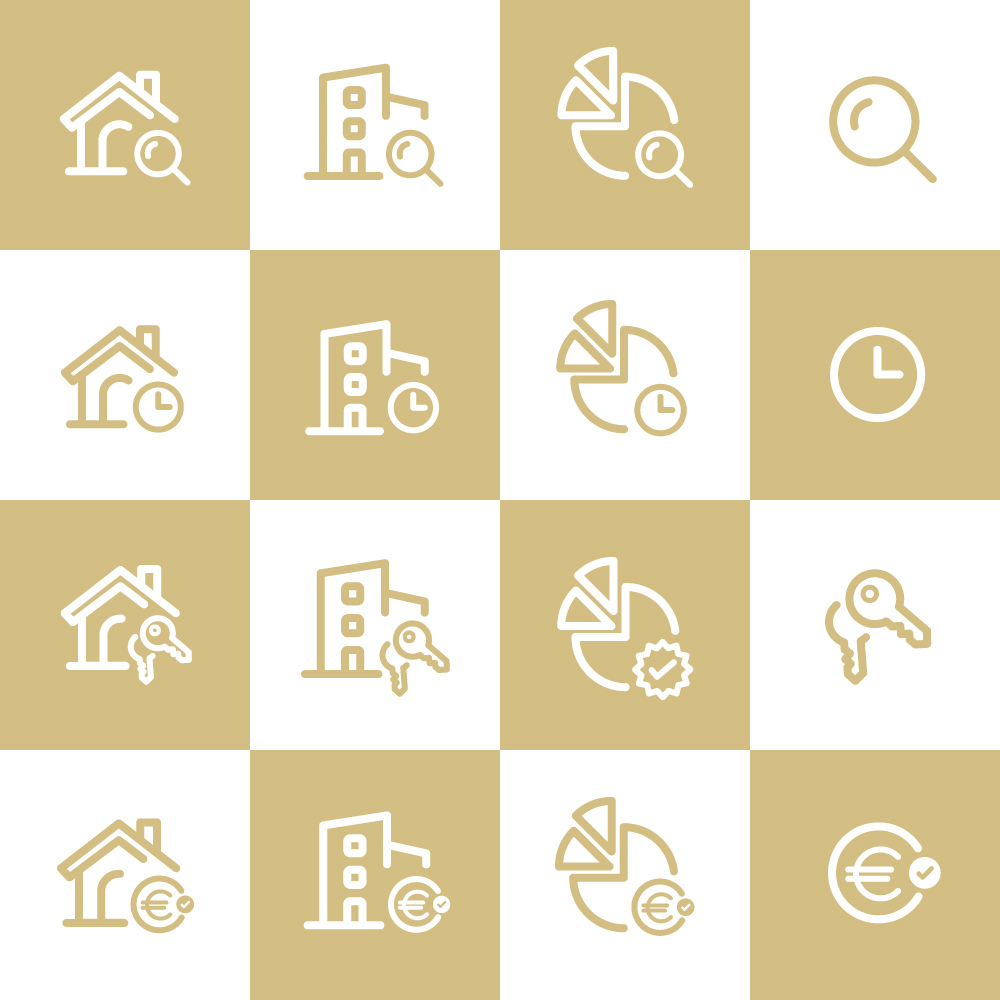 Real Estate Set of Icons