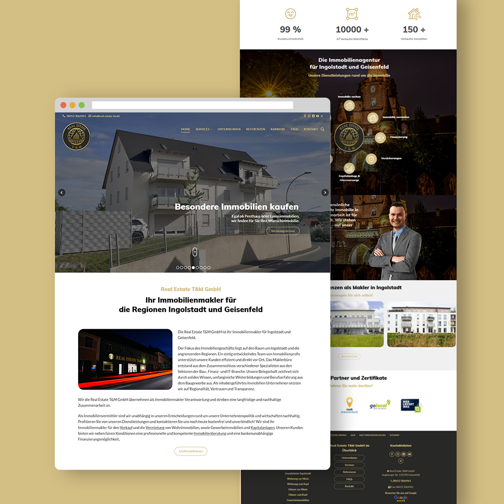 Real Estate T&M GmbH Website