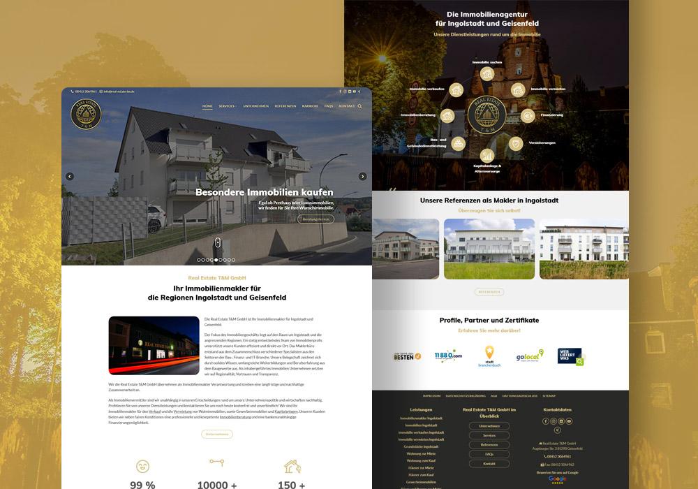 Real Estate T&M GmbH Website