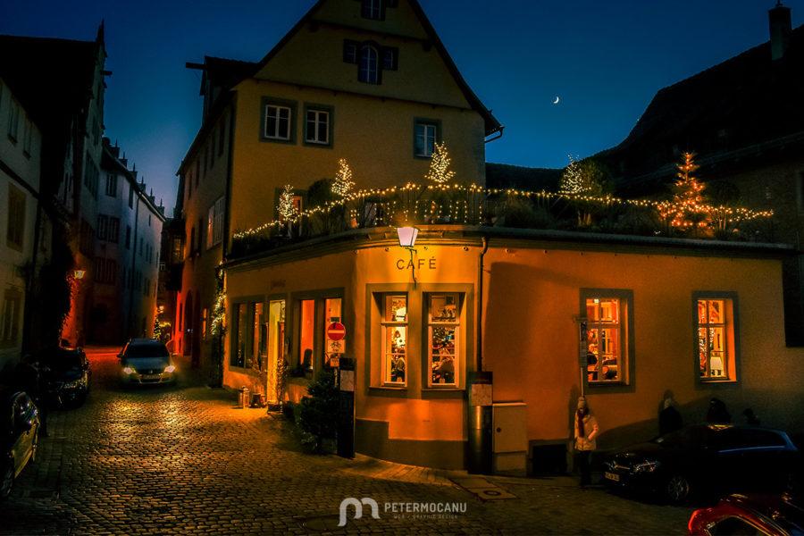 Lovely Café Restaurant at night
