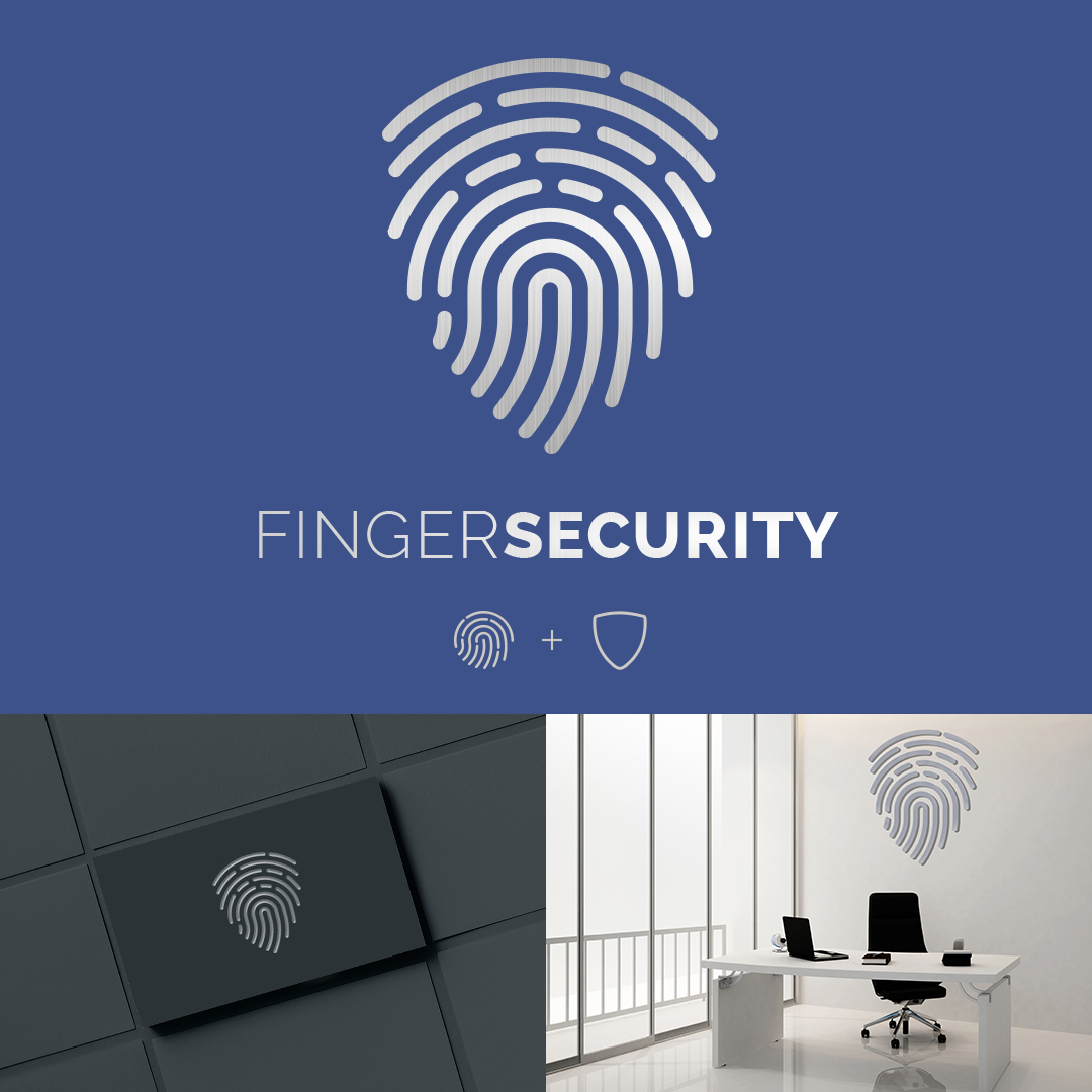 Finger Security Logo Design