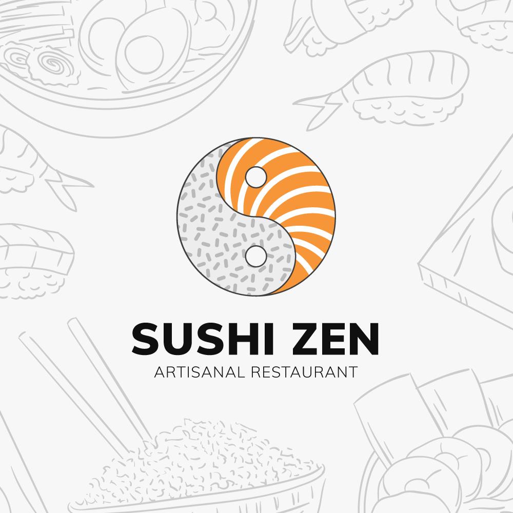 Sushi Zen Logo Design Concept