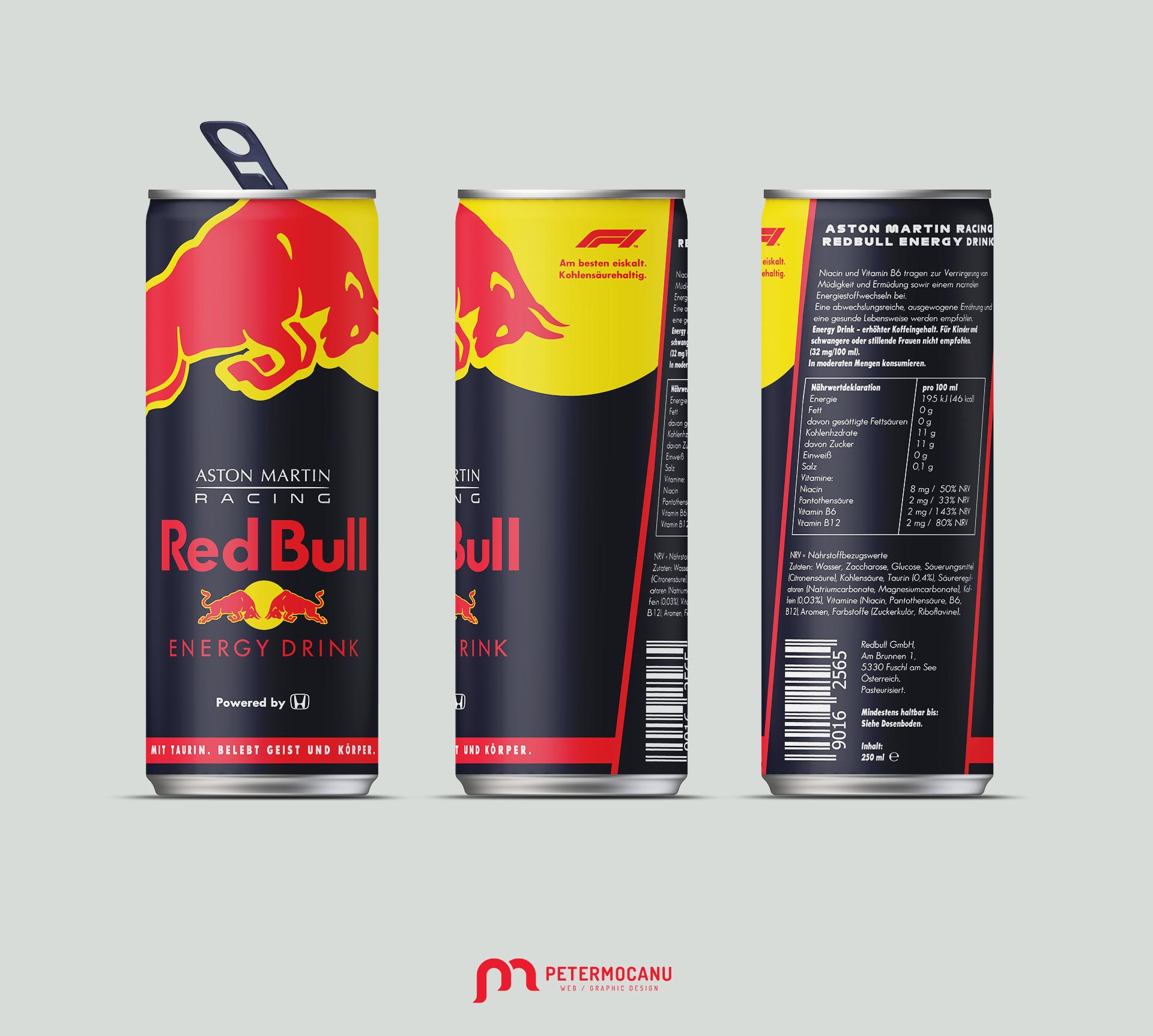 RedBull Racing Energy Drink F1 2020 Edition