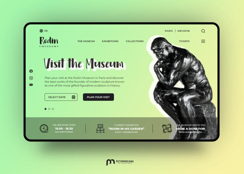 Rodin Museum Landing Page UI redesign