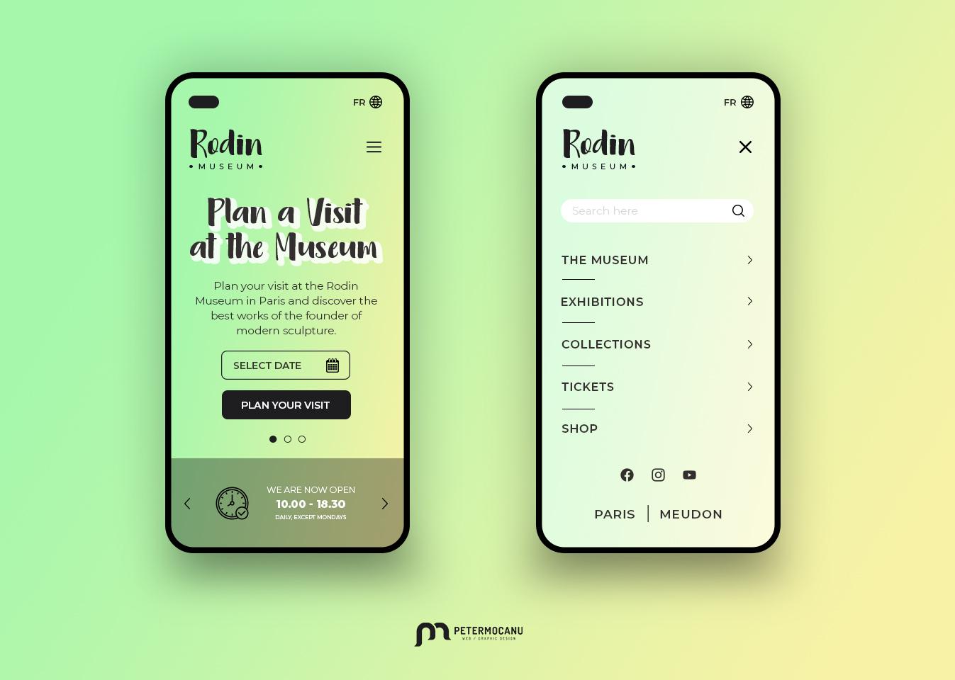 Rodin Museum UI redesign