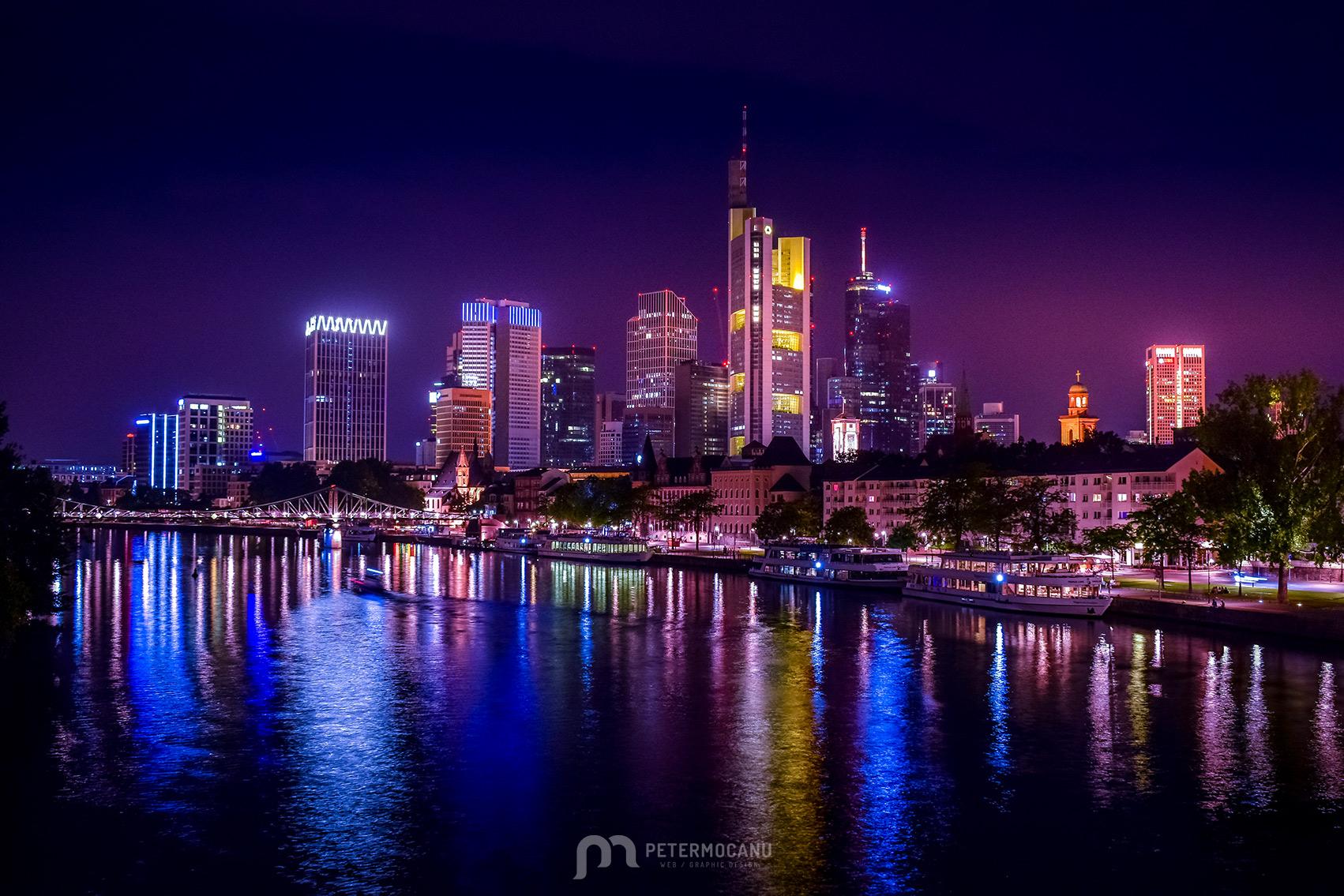 Skyline of Frankfurt am Main by night