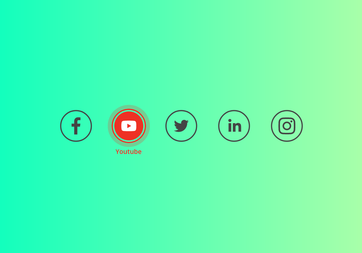 Social Icons Animation