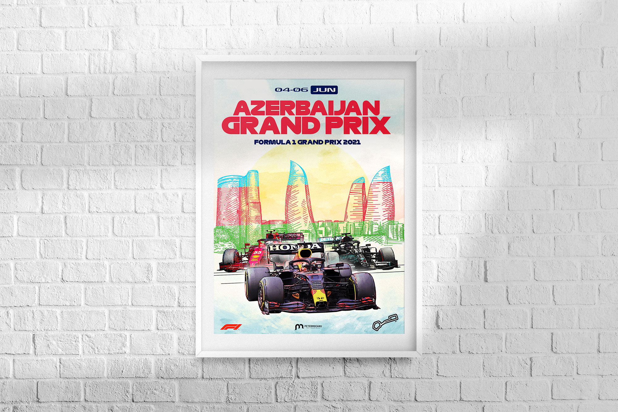 Azerbaijan F1 Grand Prix 2021 Poster