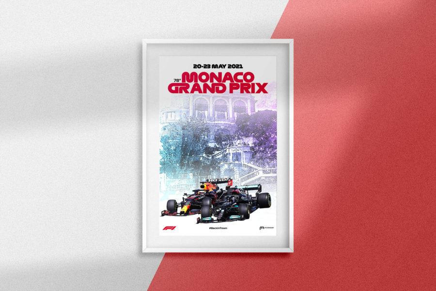 F1 Grand Prix de Monaco 2021 Poster