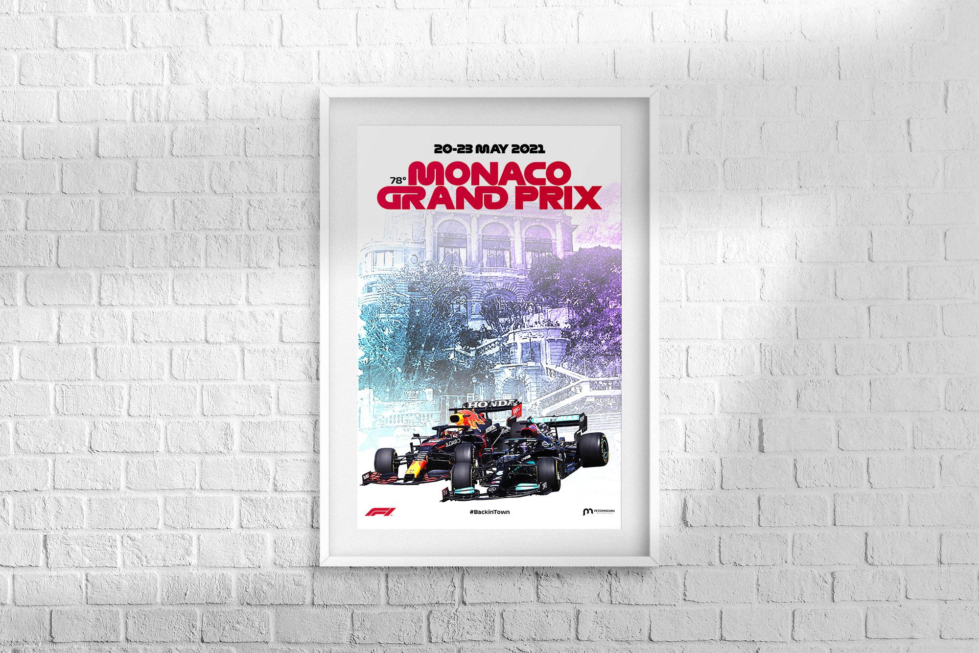 Monaco F1 Grand Prix 2021 Poster