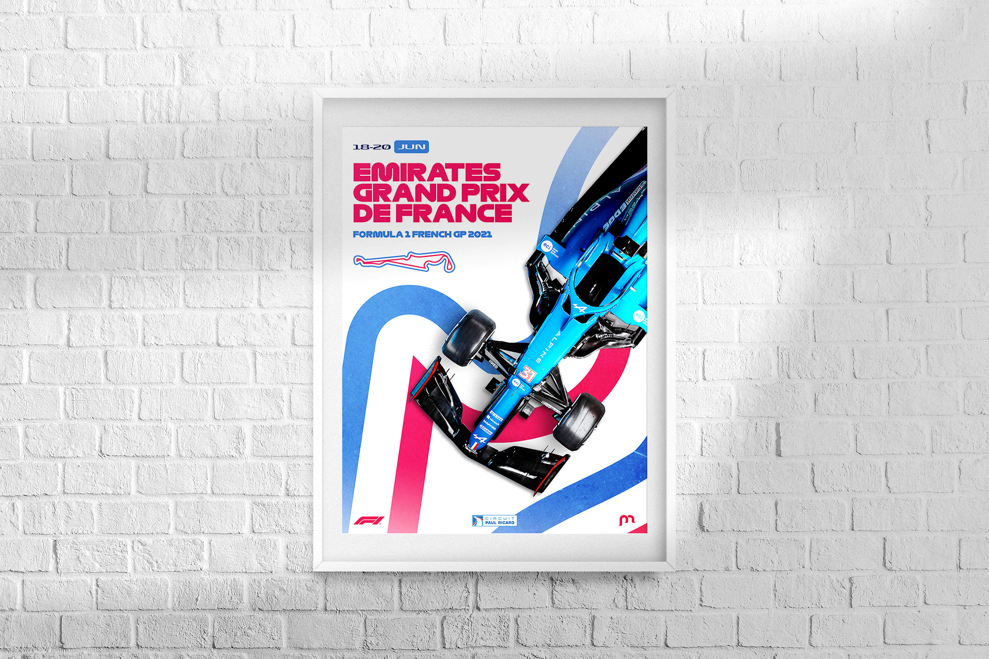 France F1 Grand Prix 2021 Poster