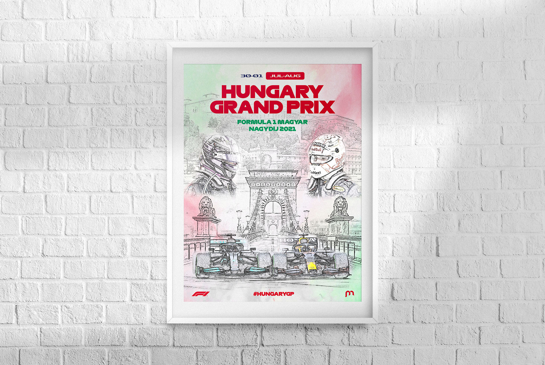 Hungary F1 Grand Prix 2021 Poster