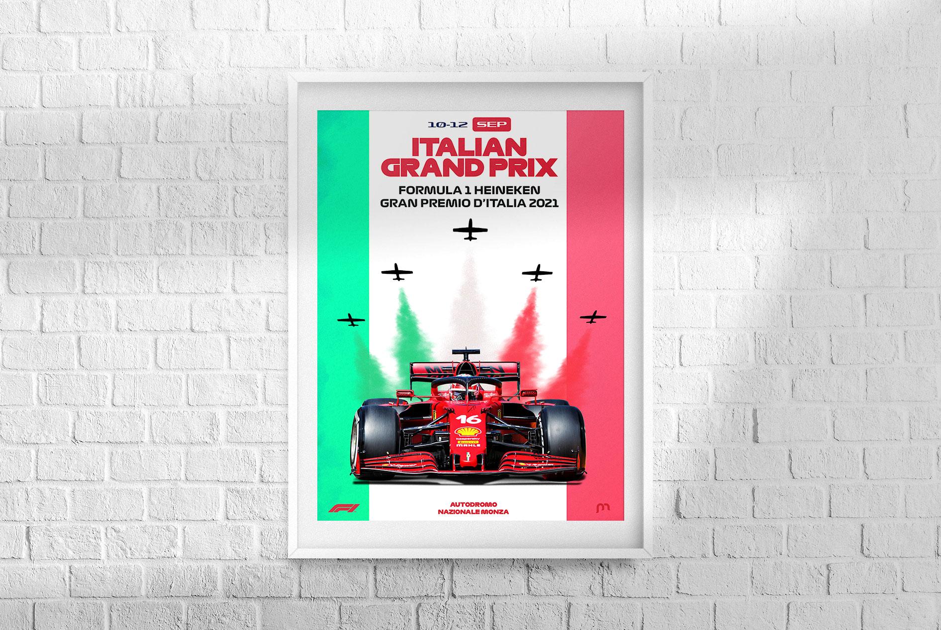 Italian F1 Grand Prix 2021 Poster